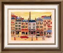 Paris Scene Nave Colorful Signed Ltd Ed Dealer Sale