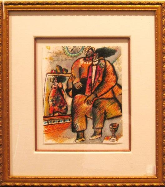 20487: THEO TOBIASSE FRAMED SIGNED LITHOGRAPH HUGE SALE