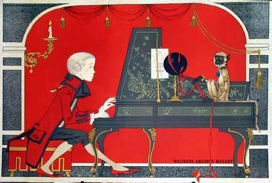 301378: MOZART PIANO WHIMSICAL NOYER LTD ED RARE ESTATE