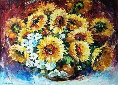 507638: FLORAL TEXTURED ORIGINAL CANVAS PAINTING HUGE S
