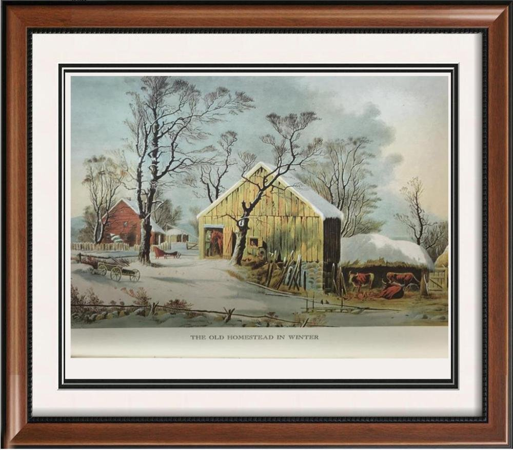 The Country Year: The Old Homestead In Winter