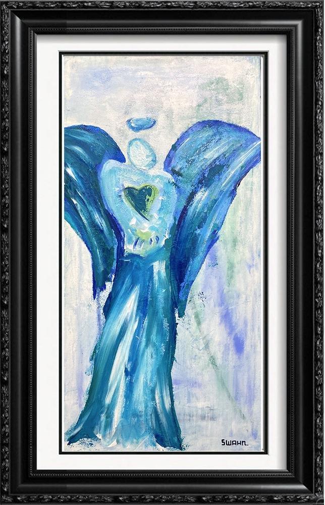 Swahn Angel with Heart Original Pop Art Painting
