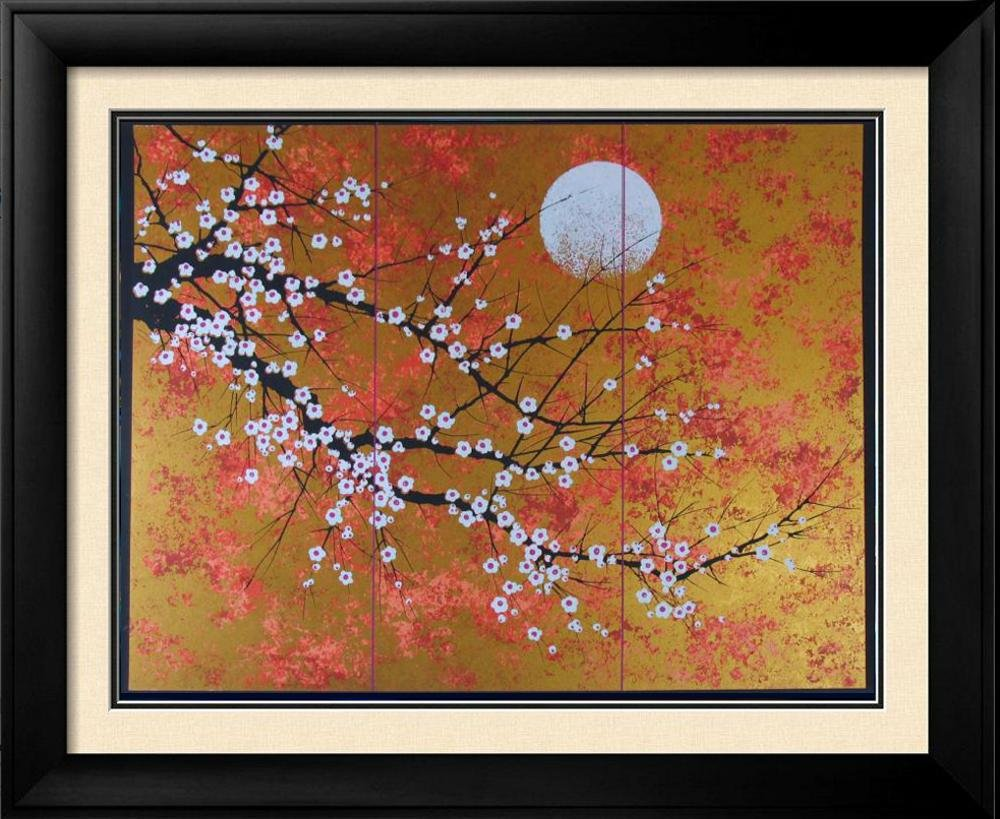Asian Cherry Blossom Tree Signed Limited Ed Sale