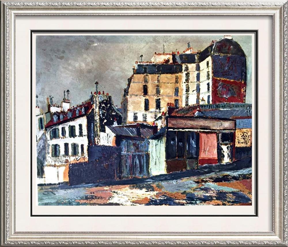 Maurice Utrillo Rue Ravigan c.1911 Fine Art Print