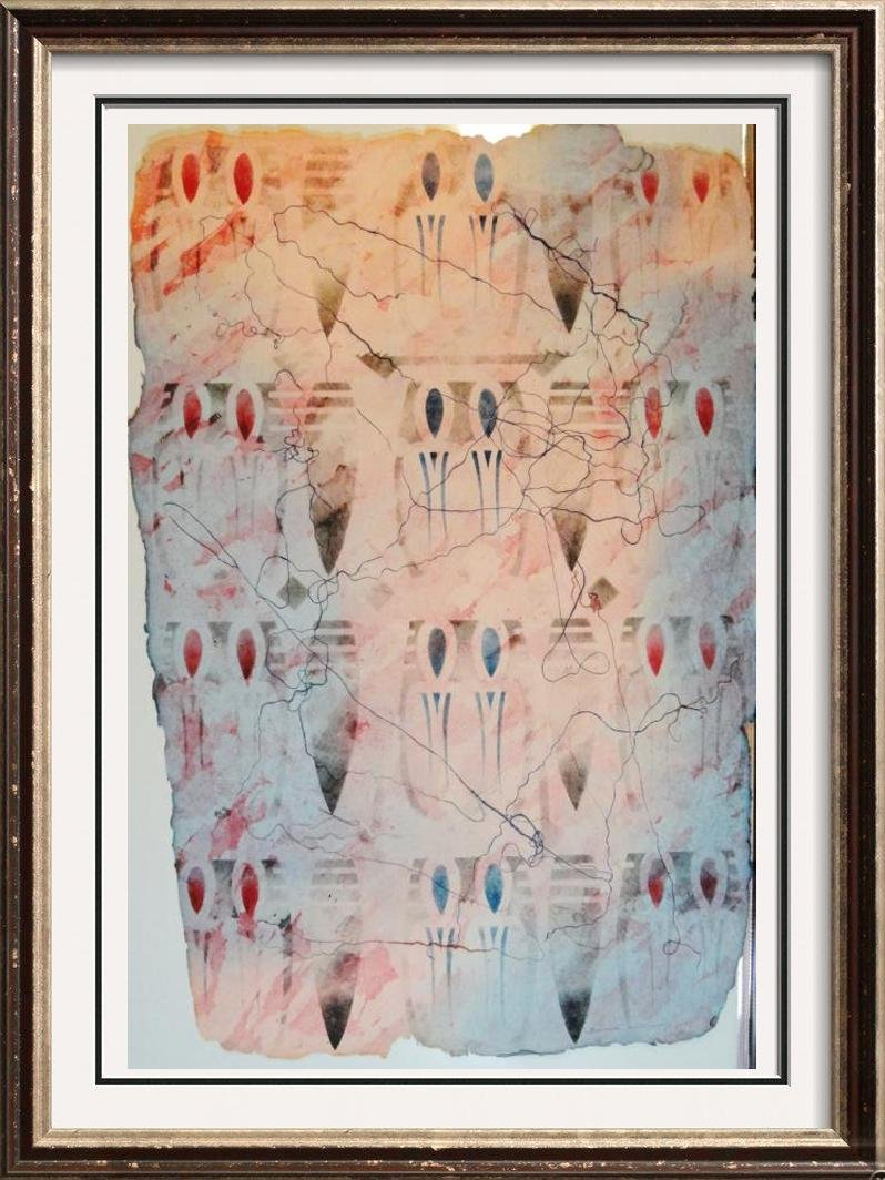 Abstract Southwestern Style Pastel Signed Limited Ed