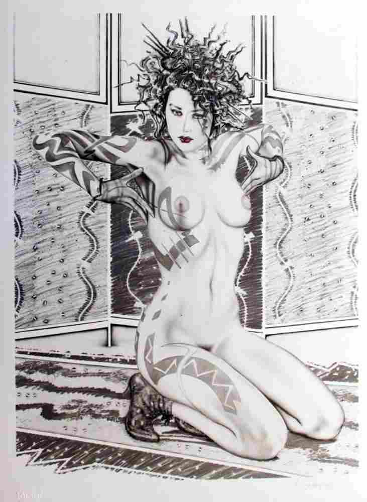 Black & White Olivia Erotica Ltd Ed Signed Art