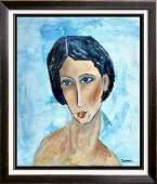 Swahn Original in Modigliani style Painting FAITH