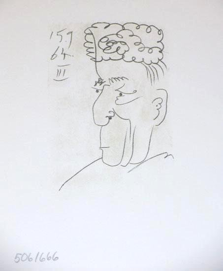 104888: LINE DRAWING STYLE PICASSO LTD ED RARE 1964 COL