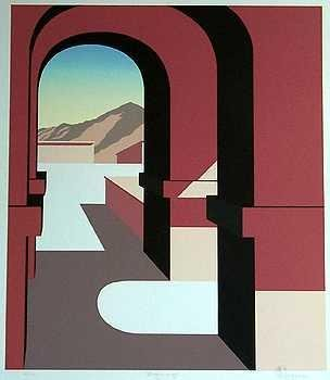 201851: ART DECO ABSTRACT ARCHITECTUAL STYLIZED LTD ED