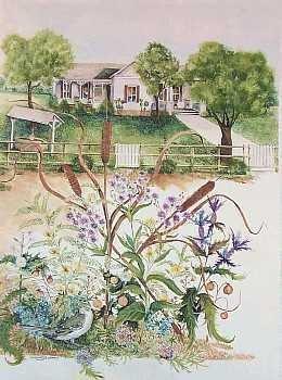 301931: BERGER PRESIDENT JOHNSON'S HOUSE ORIGINAL ART