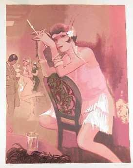 301938: CHARLESTON GIRL ART DECO MAIMON STYLE ART