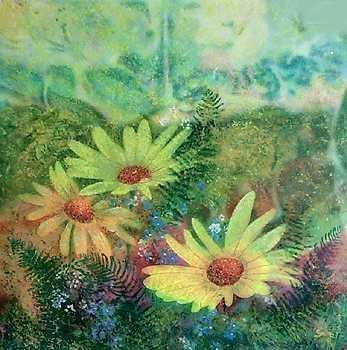 305300: SUNFLOWERS IMPRESSIONISTIC LIMITED EDITION HUGE