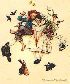 401123: ROCKWELL YOUNG LOVERS RARE LITHOGRAPH ONLY $50