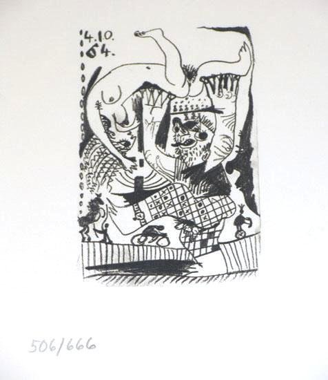 504884: DETAILED PICASSO RARE 1964 HAND NUMBERED LIMITE