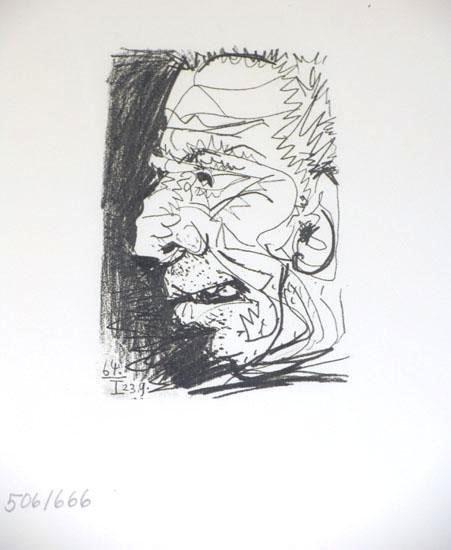 504886: PORTAIT PABLO PICASSO RARE 1964 LIMITED EDITION