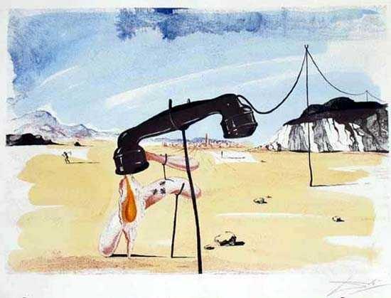 101: SALVADOR DALI FAMOUS MELTING TELEPHONE SIGNED LTD