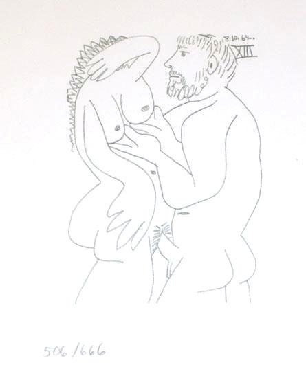 104878: PICASSO COUPLE RARE LIMITED EDITION EROTIC DRAW