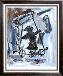Janet Swahn Roll Ride Mixed Media Original Abstract