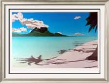 Huge Signed Limited Landscape Modern Tropical Artwork