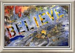 Believe Janet Swahn Textured Modern Original Art