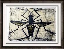 Bernard Buffet Bee Full Color Print, Executed in
