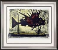 Bernard Buffet Hog Fish Full Color Print, Executed in