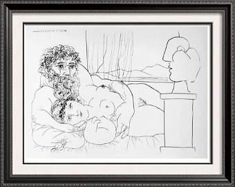 Pablo Picasso 'After'  Sculptor's Repose c. 1933 Fine