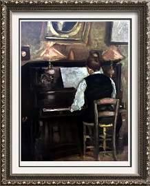 Raoul Dufy M. Gaston Dufy at the Piano c.1897-98 Fine