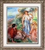 Renoir, Pierre Auguste Peintures Deux Femmes Et Une