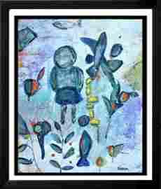 Janet Swahn My Garden Mixed Media Original Abstract