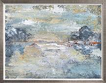 Landscape in Abstract Textured Original Art