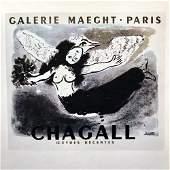 Marc Chagall Woman – Bird Fine Art Offset Lithographic
