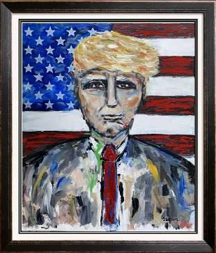 President Trump Pop Art Textured Original Painting