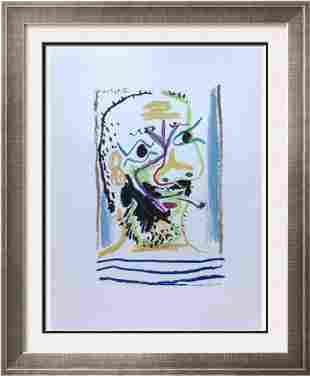 Pablo Picasso Abstract Face Lithograph on Arches Paper
