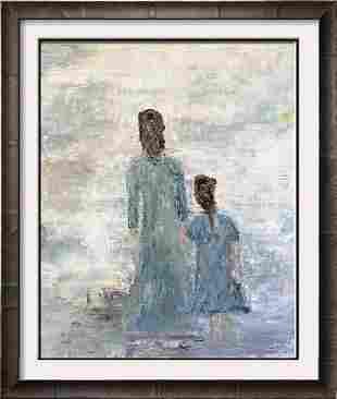 Janet Swahn Textured Figurative Original Mixed Media