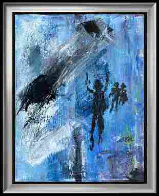 Janet Swahn SPACE FORCE Abstract Original Painting