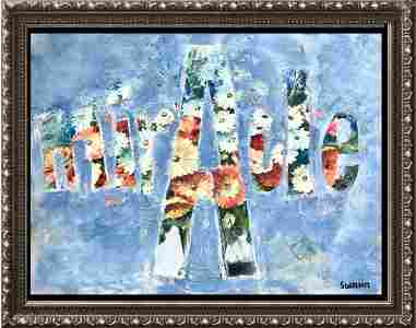 MIRACLE Janet Swahn Colorful Floral Abstract Art