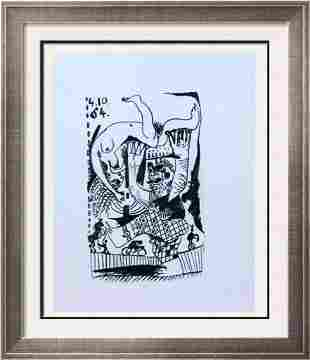 Pablo Picasso Abstract Acrobat Lithograph on Arches