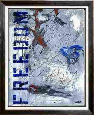 Janet Swahn FREEDOM Mixed Media Original Abstract