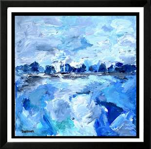 Abstract 35x35 Acrylic on Canvas Textured Painting