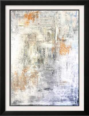 Large Abstract Textured Painting on Canvas Janet Swahn