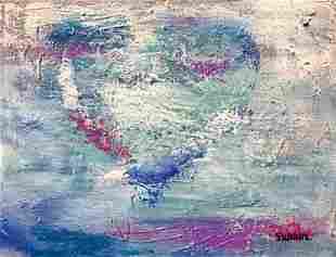 Janet Swahn Broken Heart Mixed Media Abstract Art