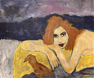 QuaranTINA Modgliani style painting Janet Swahn