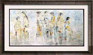 Janet Swahn Abstract Figures Colorful Modern Art