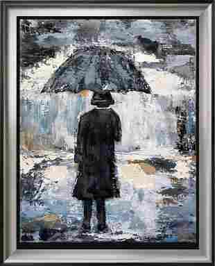 Umbrella Man Original Pop Art Canvas Janet Swahn