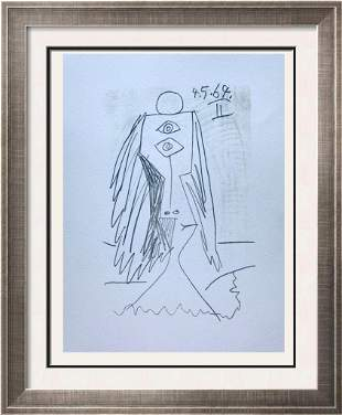 Pablo Picasso Abstract Lithograph on Arches Paper