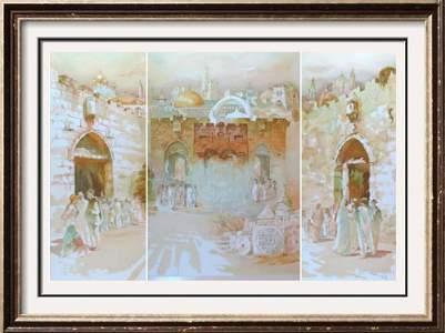 JERUSALEM THREE PIECE SUITE HUGE Art Sale