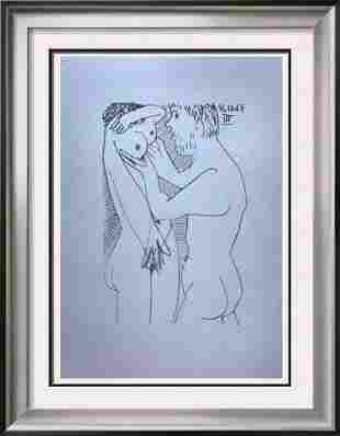 Pablo Picasso Lovers Lithograph on Arches Paper