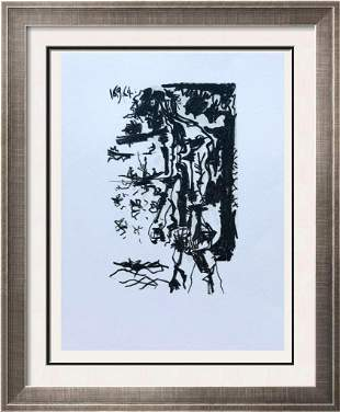 Pablo Picasso Man Walking Lithograph on Arches Paper