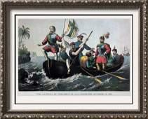 The Landing Of Columbus At San Salvador Color